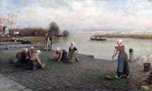 Weeding the Pavement 1882 George Henry Boughton 1833-1905 Presented by Sir Henry Tate 1894 http://www.tate.org.uk/art/work/N01539