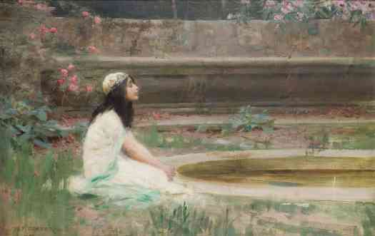 Herbert Draper - A Young Girl by a Pool