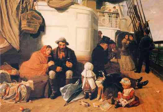 John Charles Dollman - The Immigrant's Ship