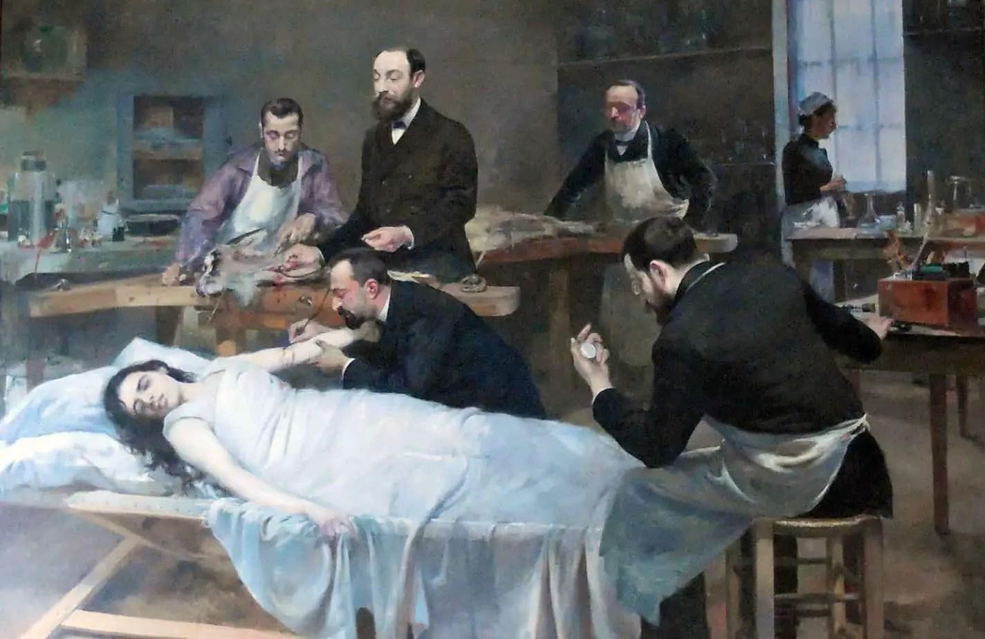 Jules Adler - Transfusion of Goat Blood 1892