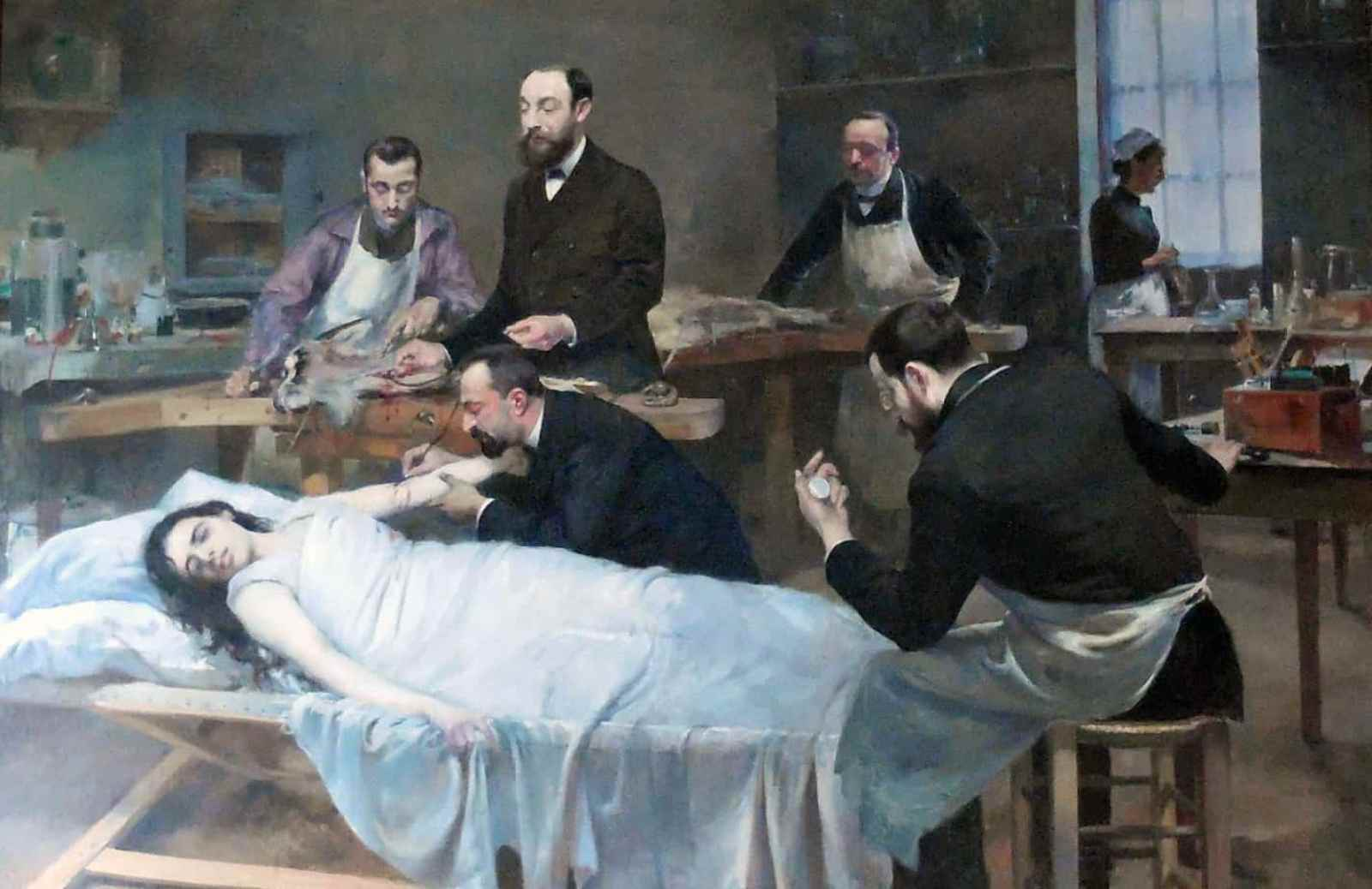 Jules Adler - Transfusion of Goat Blood 1892