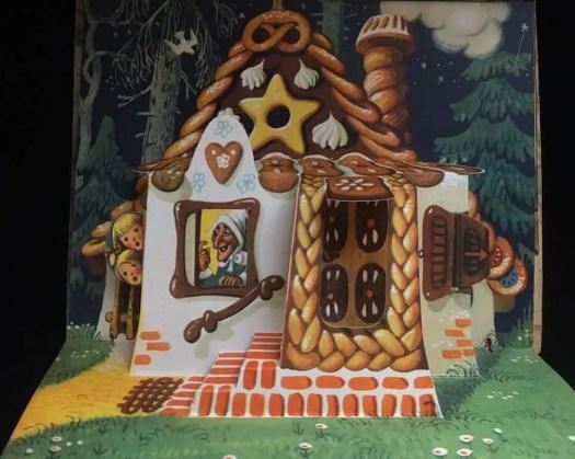 Vojtech Kubasta pop-up illustration for Hansel and Gretel.