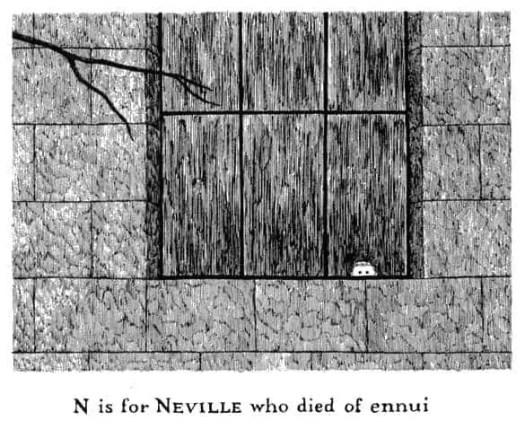 Edward Gorey Neville died of ennui