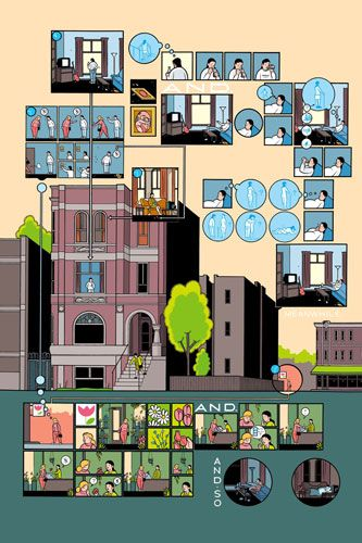 exploded axon by Chris Ware