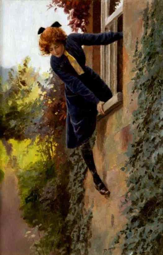 Percy Tarrant (British,1855 - 1934) Leaving by the Window