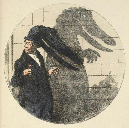 'Shadows' 1850 Charles Bennett (1829-67) alligator shadow
