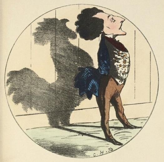 'Shadows' 1850 Charles Bennett (1829-67) rooster shadow