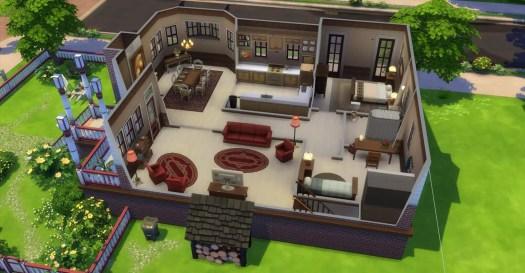 Sims cutaway house