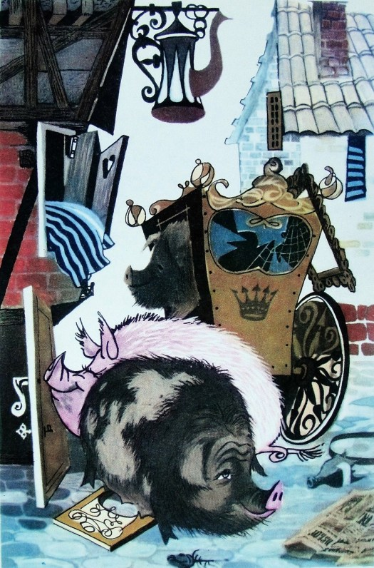"""Pigs"" by Hans Christian Andersen Illustrator Gennady Novozhilov"