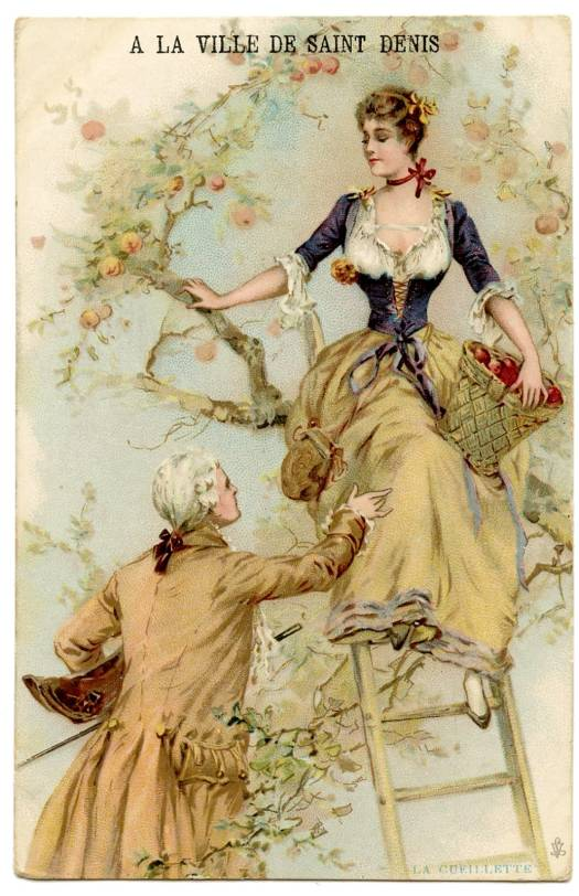 An advertising card, French, late nineteenth or early twentieth century