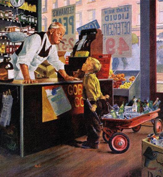 'Bottle Return', art by George Hughes (1959)