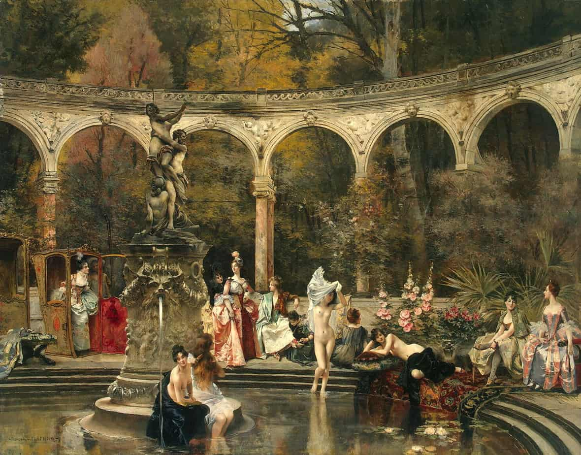 Francois Flameng - Bathing of Court Ladies in the 18th Century 1888