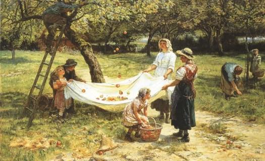 Frederick Morgan - An Apple Gathering