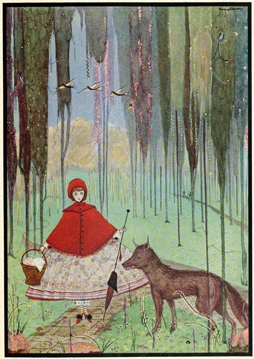 Harry Clarke, Little Red Riding Hood and the wolf