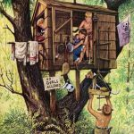 Tree Houses, Forts and Huts in Children's Illustration
