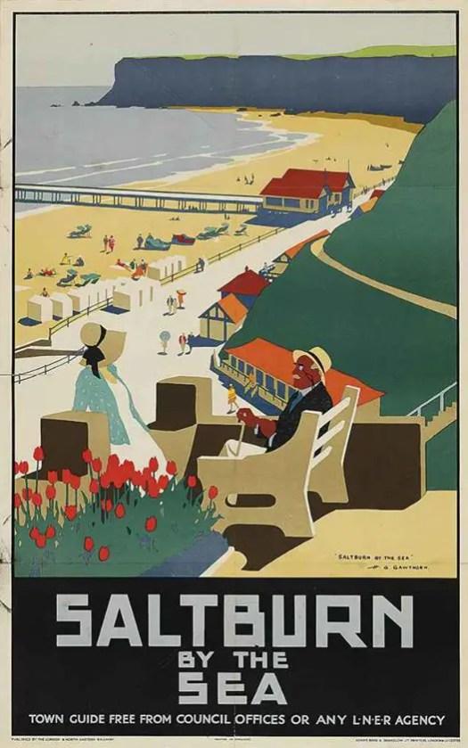Saltburn By The Sea Henry George Gawthorn (1879-1941)