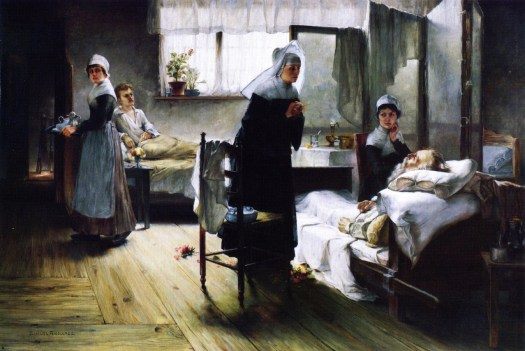 Samuel Richards - Evangeline Discovering Her Affianced in the Hospital