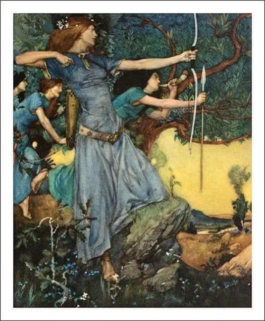 "Sir William Russell Flint (1880-1969) ""The Death of Arthur"", 1910"