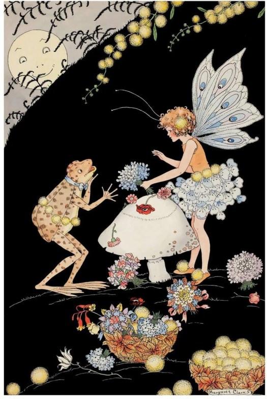 The Flower Shop Fairy by Margaret Clark 1901-2001 black