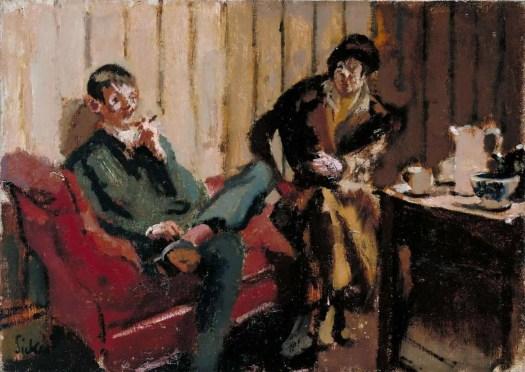 Walter Richard Sickert The Little Tea Party- Nina Hamnett and Roald Kristian 1915–16