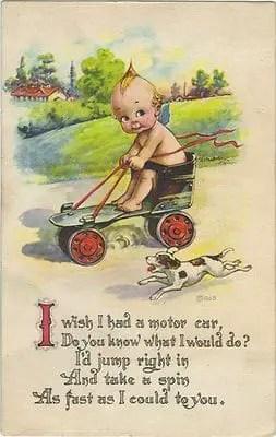 Kewpie postcard c.1910s Rose O'Neill
