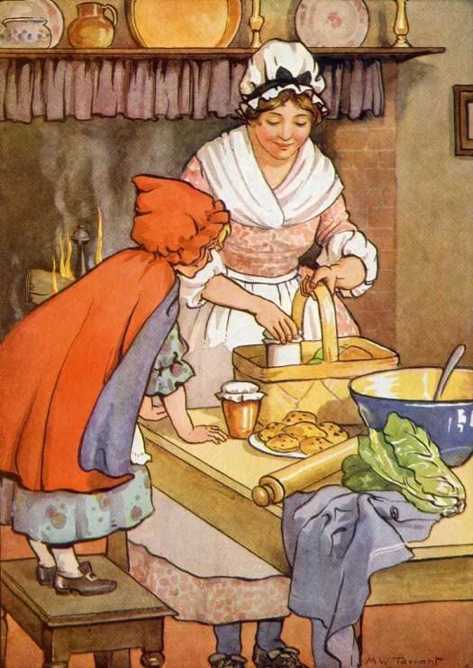 Margaret Tarrant (1888 - 1959) Little Red Riding Hood