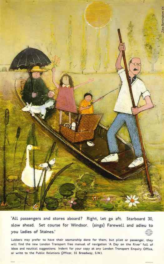 Mr Gumpy's Outing by John Burningham London Travel poster