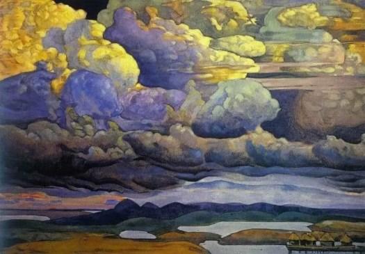 Nicholas Roerich (1874 - 1947) La bataille des cieux, 1912 clouds