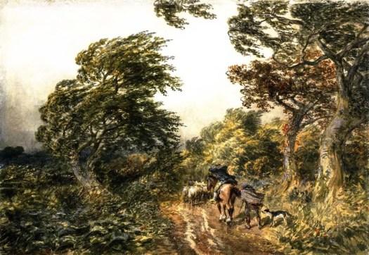 Samuel Bough - A Windy Day