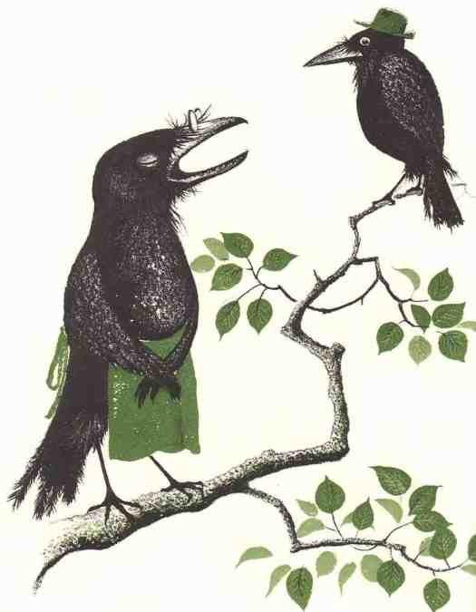 The Crows of Pearblossom by Aldous Huxley illustrated by Barbara Cooney (1917-2000) published in 1967
