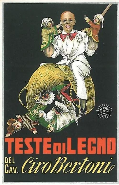 'The Wooden Heads of Ciro Bertoni Esq.' Poster by Argo, circa 1930