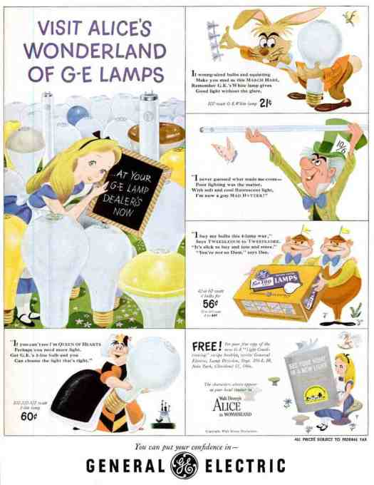 Visit Alice's Wonderland of G-E Lamps, General Electric, 1951