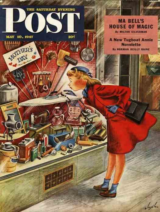 by Constantin Alajalov (1900-1987) The Saturday Evening Post cover May 10, 1947