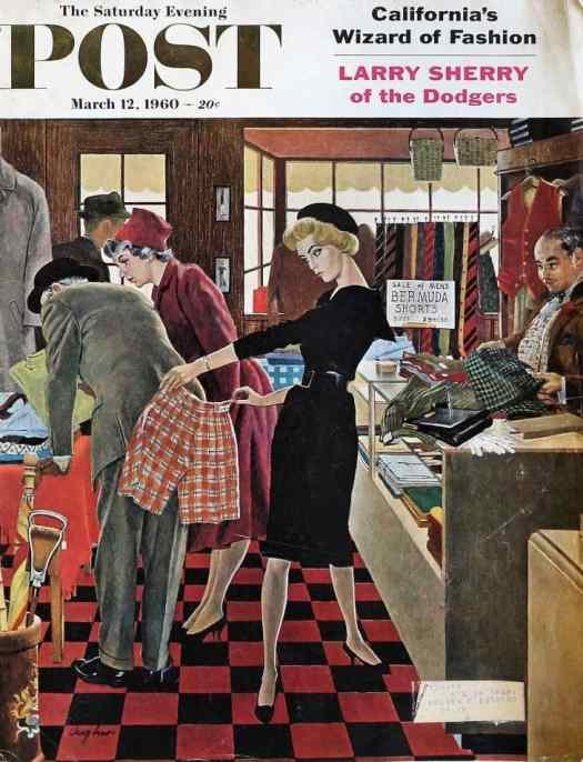 by George Hughes (1907-1990) The Saturday Evening Post cover March 12, 1960
