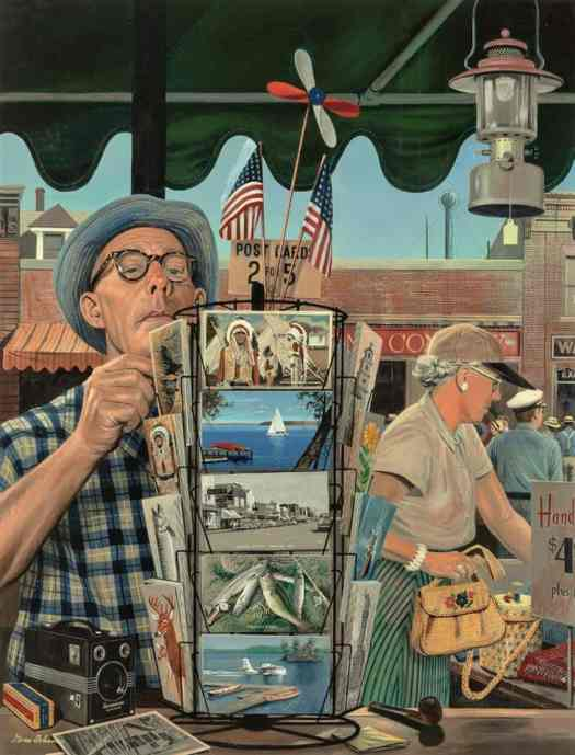 By Stevan Dohanos (1907-1994)--The Vacationers f. The Saturday Evening Post, Aug 25, 1951
