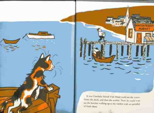 Another example, this time from From Fish Head (1954) by Marc Simont (1915-2013).