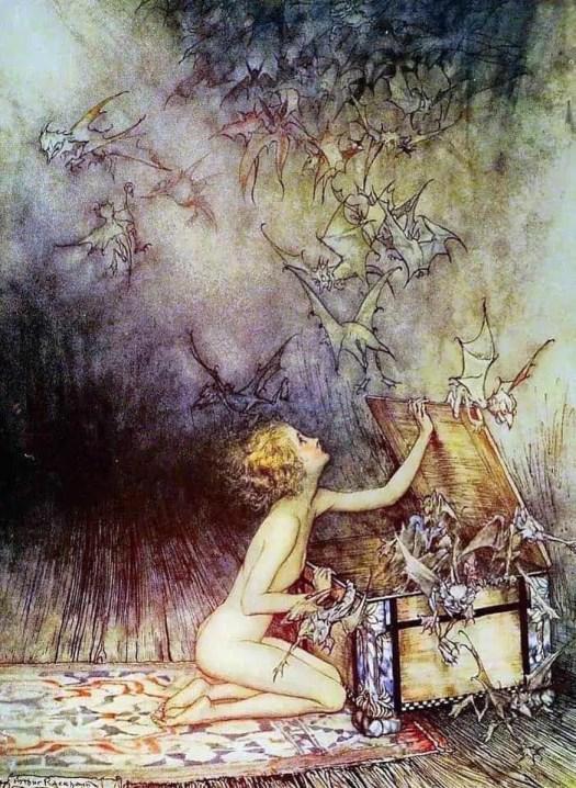 Pandora's Box Arthur Rackham