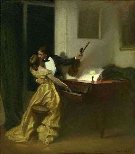 René François Xavier Prinet, The Sonata, 1901, the stuff of girlhood fantasy