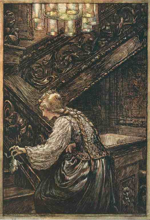The Princess and the Frog, Arthur Rackham, 1909 (illustration for The Frog Prince by Brothers Grimm)