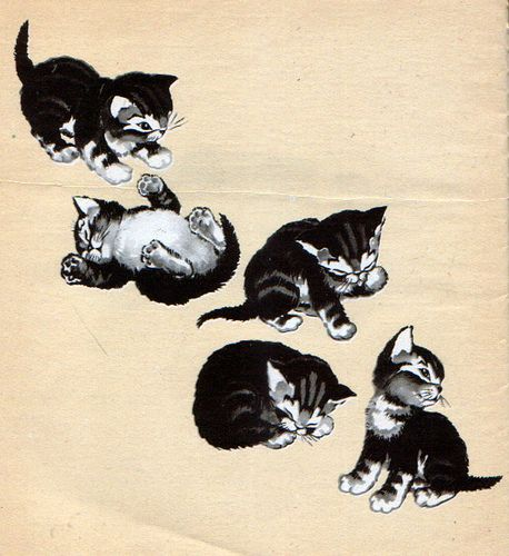 Trouble the Careless Kitten, Illustrations by Sharon Stearns, 1945