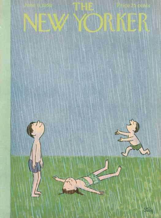 William Steig (American, 1907-2003) New Yorker cover