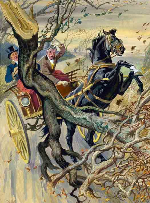 'A Stormy Day' from Anna Sewell's Black Beauty, illustrated by world-renowned horse painter T S La Fontaine