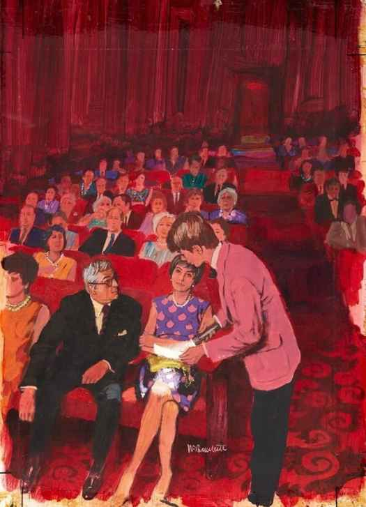 At the Theatre by Ward Brackett (1914-2006)