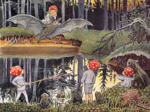 Elsa Beskow (Swedish author and illustrator) 1874 - 1953, Tomtebobarnene (Children Of The Forest), c1910