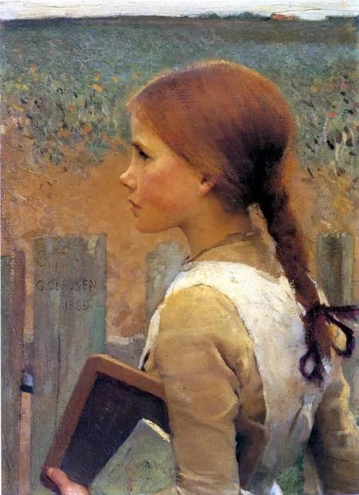 George Clausen - A School Girl 1889