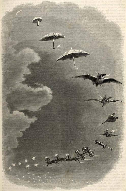 Grandville A walk in the sky A Stroll in the Sky, The Picturesque Store, 1847