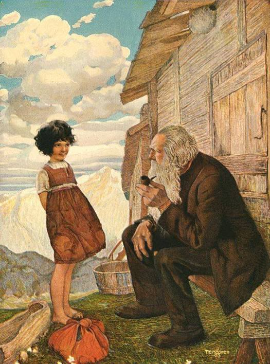 Heidi and Grandpapa by Gustav Tenggren
