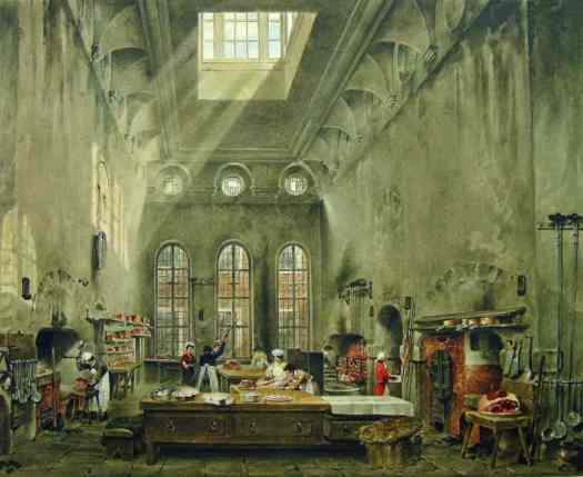 James Stephanoff - St James's Palace, the Kitchen 1819