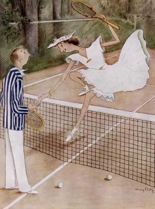 Mary Petty (1899-1976) Tennis