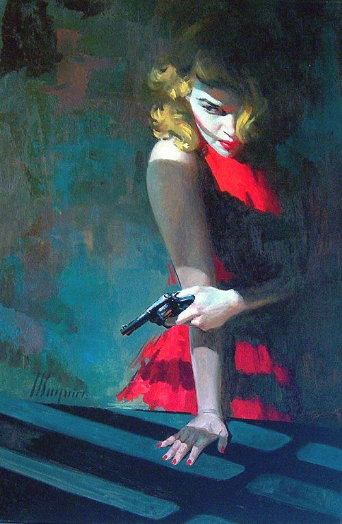 Robert Maguire 1921 - 2005 (illustration date unknown) - Femme Fatale, one of many